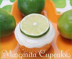 Not really authentic Mexican dessert, but hey, why not? Margarita Cupcakes...yum!