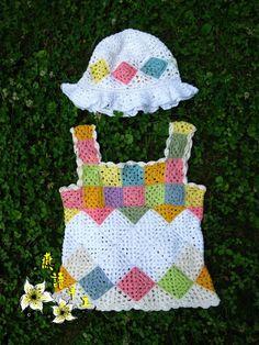 Original indulgence zero line skirt} {small vest tutorial with detailed process American Girl Crochet, Crochet Girls, Crochet For Kids, Crochet Baby, Knit Crochet, Crochet Shorts Pattern, Crochet Shirt, Crochet Patterns, Rainbow Crochet