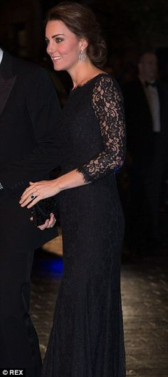 The Duchess of Cambridge pictured during an appearance at the London Palladium last month