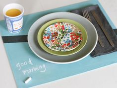 Make This: Fabric Chalkboard Placemat DIY