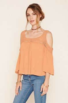 Contemporary Open-Shoulder Top | Forever 21 - 2000203510