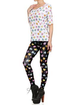 www.poprageous.com Candy Heart Leggings.