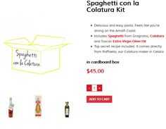 Feel like you're dining on the Amalfi Coast with our Spaghetti con la Colatura kit!