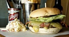 Blues Kitchen in trendy Camden.  The burger to end all burgers... says http://hitthetheatre.com/
