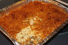 Funeral Potatoes: Use cheddar cheese soup and cream to omit the cream of chicken and sour cream. Use frosted flakes with butter to give it a yummy sweet kick. And, maybe add smoked sausage for a full meal!