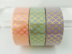 Gold Foil Mermaid Scales Washi Tape in 3 Colors by GoatGirlMH on Etsy