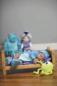 Me encanta esta linda idea para la foto de recién nacido