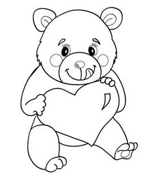 Love Bear coloring page. Color in this Love Bear coloring page and others with our library of online coloring pages! Enjoy fantastic coloring sheets from . Bear Coloring Pages, Online Coloring Pages, Coloring Sheets, Adult Coloring, Valentines Day Coloring Page, Animal Print Outfits, Love Bear, Animal Crafts, Design Reference
