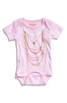 Adorable! Love this necklace print bodysuit.