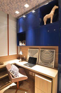 Apartamento Itacorubi Gran Classic 1 : Escritórios modernos por ANNA MAYA & ANDERSON SCHUSSLER