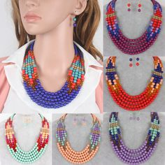 Cheap Chain Necklaces, Buy Directly from China Suppliers:Multilayer necklace Long bead necklace jewelry New fashion women statement afracan acrylic bead necklace Layered necklac