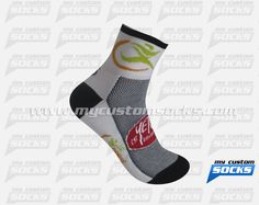 Socks designed by My Custom Socks for La course du printemps in Quebec, Canada. Cycling socks made with Coolmax fabric. #Cycling custom socks - free quote! ////// Calcetas diseñadas por My Custom Socks para La course du printemps in Quebec, Canada. Calcetas para Ciclismo hechas con tela Coolmax. #Ciclismo calcetas personalizadas - cotización gratis! www.mycustomsocks.com
