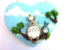 Totoro quadro in polymer clay Il mio Vicino Totoro di Sfiziboom, €27.00