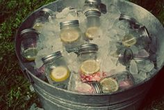 ice water in mason jars with lids...amazing by jan