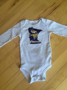 e18bc2bed Minnesota Vikings Onesie ~ Size 9 Months ~ Upcycled ~ MN Football ~ Unique  ~ Great Gift for the Baby Vikings Fan ~ Viking's Spirit Wear ~