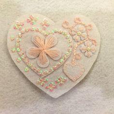 Handmade heart shape felt hair clip