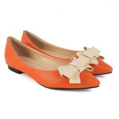$12.26 Sweet Style Women's Flat Shoes With Beatiful Bowknot and Pointed Toe Design