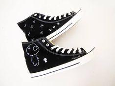 Studio Ghibli hand painted shoes series / Princess Mononoke shoes / Kodama shoes