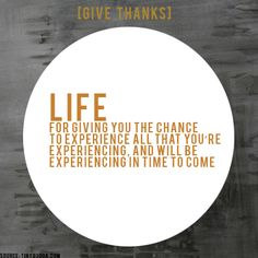 [GIVE THANKS] #ProjectBeautiful #blessings #Life  www.projectbeautiful.net