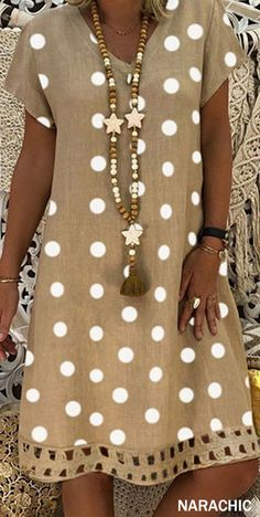 Hot Sale> Up to OFF, Summer Casual Dress for Daily & Holiday Outfit - Summer Dresses Polka Dot Summer Dresses, Casual Summer Dresses, Summer Dresses For Women, Fast Fashion Brands, Daily Dress, Vintage Style Dresses, Vintage Dress, Mode Style, Holiday Outfits
