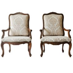 Pair of 18th Century Louis XV Armchairs | From a unique collection of antique and modern armchairs at https://www.1stdibs.com/furniture/seating/armchairs/