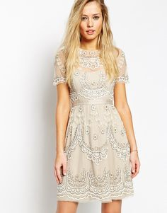Needle & Thread Embellished Tiered Petal Dress