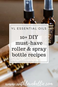 Hello! If you stumbled across this page, that means you are looking for some super quick, easy, and amazing recipes to make your own roller bottles and sprays with essential oils! I made all of these using primarily essential oils from the Young Living Starter Kit, with a few additional ones needed