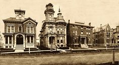 Architecture vintage american Victorians   Alfred Street, Brush Park, Detroit, 1881 - a photo on Flickriver