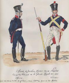Ufficiale e veterano della compagnia veterani della 2 armata del regno di Murat