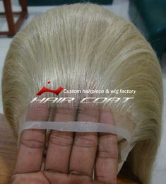 Platinum Blonde (#613) Human Hair Custom Lace Wigs for White Women
