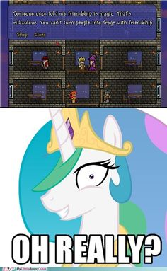 Oh my word Princess Celestia