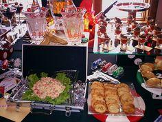 James Bond party food display