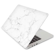 Women's Recover White Marble Laptop Skin (88705 PYG) ❤ liked on Polyvore featuring bags, white, marble bag, white bag, white laptop bag, laptop bags and vinyl bag