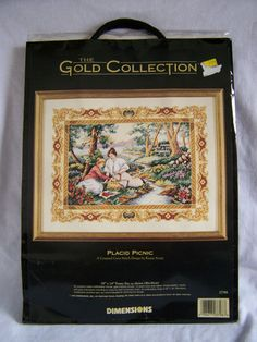RETIRED Dimensions Gold Collection Placid Picnic Counted Cross Stitch 3798 NIP #Dimensions