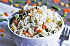 A simple, quick, and easy gluten free and vegan Thai coconut rice with green curry and veggies you can make in 1 pot in 30 minutes!