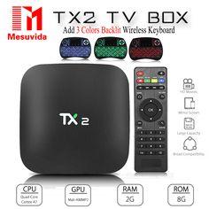 Mesuvida TX2 - R2 Android 6.0 Smart TV Box BT 2.0 KD Player 2G 16G ARM Cortex-A7 RK3229 32Bit 2.4GHz WiFi 4K x 2K Media Player