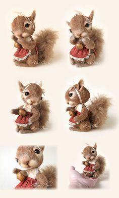 【rinabears】Душечка ♥ Felt Wool Doll