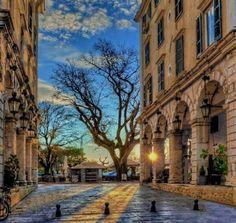 Liston, Spianada Square in Corfu