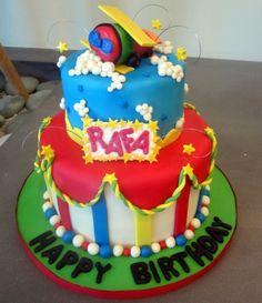 toy airplane cake By sweetbrantleys on CakeCentral.com Airplane Cakes, Airplane Toys, Boy Birthday, Birthday Cake, Boys, Desserts, Baby Boys, Tailgate Desserts, Deserts
