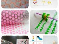 6 sellos caseros para niños Easy Crafts, Diy And Crafts, Arts And Crafts, Paper Crafts, Diy For Kids, Crafts For Kids, Fabric Painting, Diy Painting, Ideias Diy