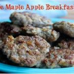 Homemade Maple Apple Breakfast Sausage savorylotus.com
