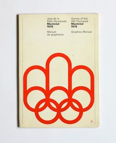1976 Montreal Olympics Graphics Manual in Vintage Design Vintage Graphic Design, Graphic Design Inspiration, Vintage Designs, Vintage Logos, 1976 Olympics, Summer Olympics, International Typographic Style, Olympic Logo, Grid
