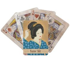 Ishida Waka Spring Sentiment japanese lady woman Deck Of Cards