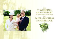 Westminster Coll. (@WestminsterGB) | Twitter: Stamp from Jersey to mark the 5th wedding anniversary of the marriage of the Duke and Duchess of Cambridge