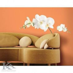 The largest selection of peel & stick wall decals, custom wall decals and wall graphics, wall murals & more. Always fast, fun, easy and affordable. Shop now! Vinyl Wall Decals, Wall Stickers, Wallpaper Stickers, Diy Design, Design Ideas, Flower Motif, Do It Yourself Design, Living Room Orange, Unique Wall Decor