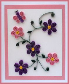 Billedresultat for easy quilling designs for children Quilling Birthday Cards, Paper Quilling Cards, Paper Quilling Patterns, Origami And Quilling, Quilled Paper Art, Handmade Birthday Cards, Greeting Cards Handmade, Quilling Butterfly, Quilling Jewelry