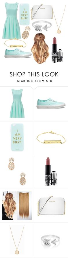 """Dress❤"" by ml-war ❤ liked on Polyvore featuring Kate Spade, Vans, Miss Selfridge, Sole Society, MAC Cosmetics, Michael Kors, NLY Accessories and EF Collection"