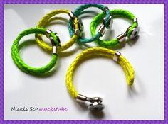 """Druckknopf - Armband """" Neon-Style """" von Nickis Schmuckstube auf DaWanda.com"""