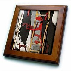 "An abstract painting in a bedroom of musical things - 8x8 Framed Tile by 3dRose. $22.99. Cherry Finish. Inset high gloss 6"" x 6"" ceramic tile.. Solid wood frame. Dimensions: 8"" H x 8"" W x 1/2"" D. Keyhole in the back of frame allows for easy hanging.. An abstract painting in a bedroom of musical things Framed Tile is 8"" x 8"" with a 6"" x 6"" high gloss inset ceramic tile, surrounded by a solid wood frame with pre-drilled keyhole for easy wall mounting."
