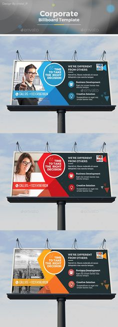Billboard Template By Cristal P On Graphicriver Corporate Design Is Very Easy To Use And Change Text Color Size Look Everything